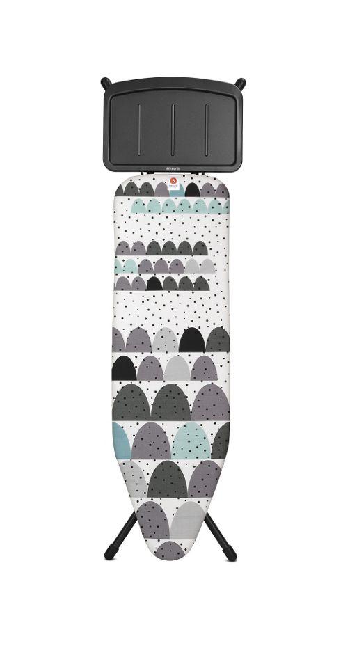 buy brabantia ironing board 124x38cm with soild steam unit. Black Bedroom Furniture Sets. Home Design Ideas