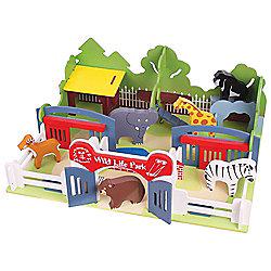 Bigjigs Toys JT104 Heritage Playset Wildlife Park