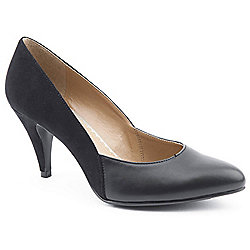 Emilio Luca X Ladies Two Part Stiletto Black Heeled Court Shoes