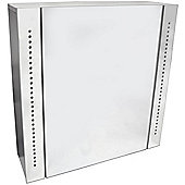 Mimeo - Mirror Bathroom Cabinet / Shaver Socket / Led Light - White / Silver