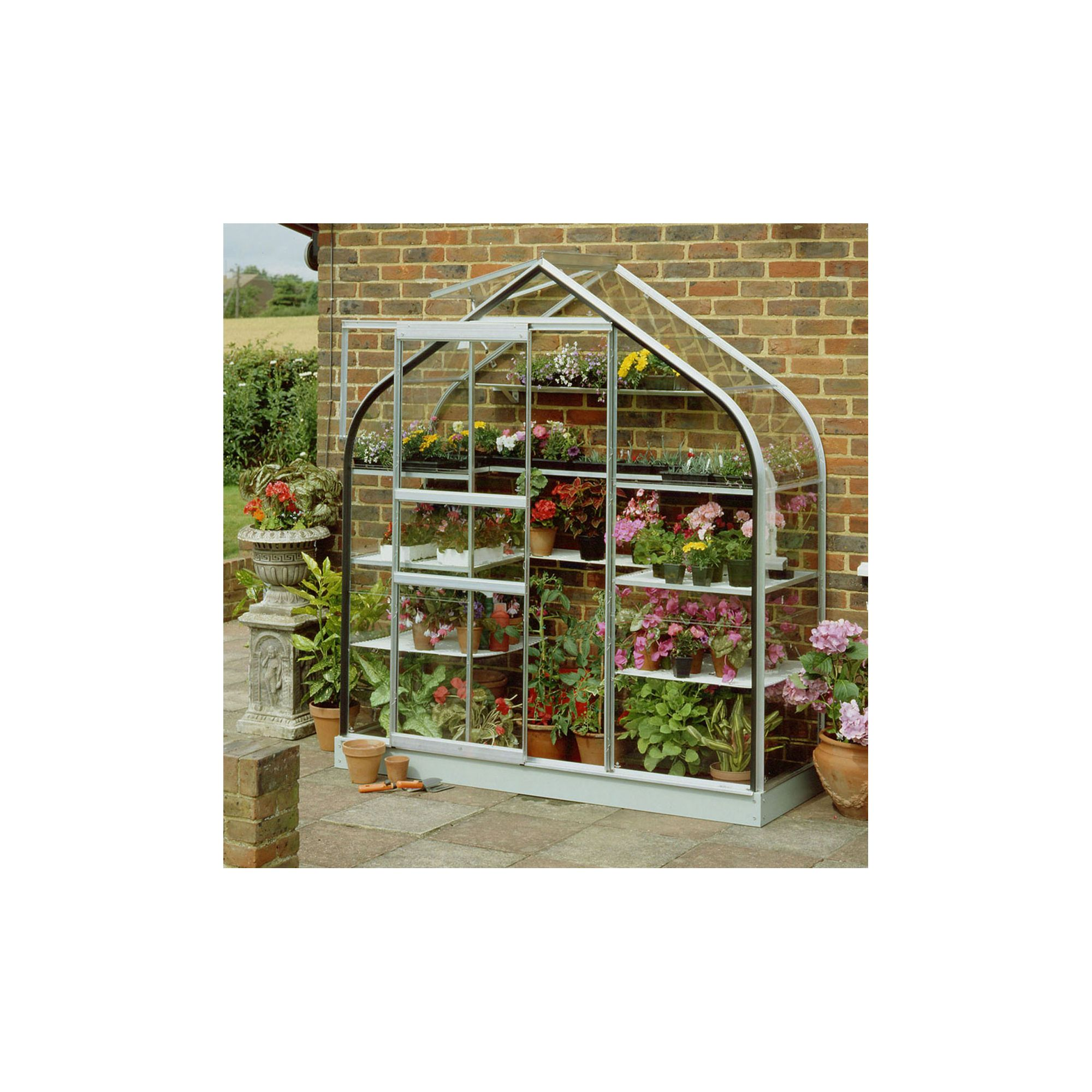 Halls 6x2 Supreme Wall Greenhouse - Toughened Glass at Tesco Direct
