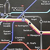 Gift Wrap - London Underground Map - Black