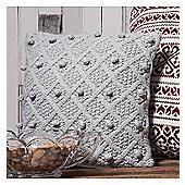 Gallery Bobble Cushion - Grey