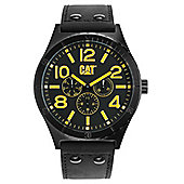 CAT Camden 48mm Mens Leather Day & Date Seconds Sub Dial Watch NI.169.34.137