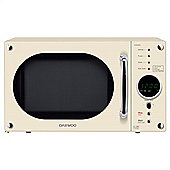Daewoo KOR8A9RC 23 Litre 800W Retro Touch Control Microwave - Cream