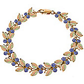 QP Jewellers 5in Tanzanite & Opal Butterfly Bracelet in 14K Rose Gold