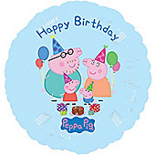 "Peppa Pig Foil - 18"" Happy Birthday Foil (each)"
