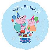 """Peppa Pig Foil - 18"""" Happy Birthday Foil (each)"""