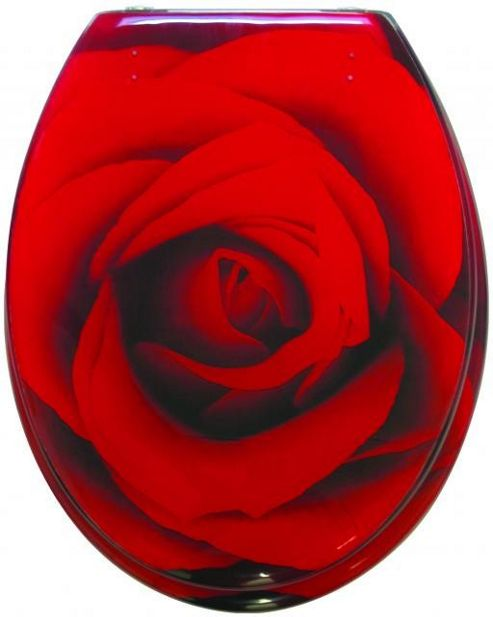Sanwood Scarlet Toilet Seat in Transparent