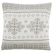 Scandi Snowflake Cushion Grey
