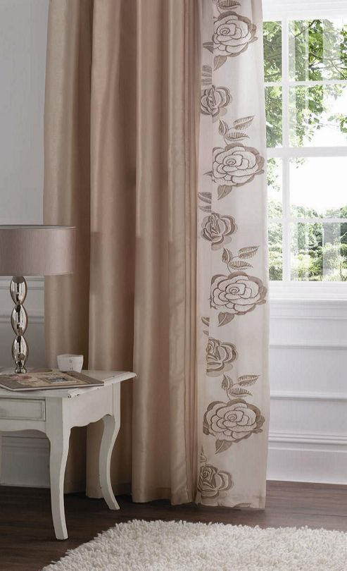 Catherine Lansfield Deco Rose Polyester Curtains