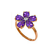 QP Jewellers Diamond & Amethyst Foliole Ring in 14K Rose Gold