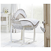 Clair De Lune Bedtime Story White Wicker Moses Basket