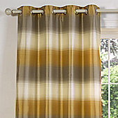 Julian Charles Soho Gold Luxury Jacquard Eyelet Curtain -112x137cm