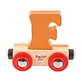 Bigjigs Rail Rail Name Letter F (Orange)