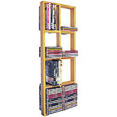 Techstyle CD / DVD / Blue Ray Double Wall Shelf - Natural