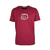 Optic Negative Cotton Walking Hiking Travel Lightweight Camper Mens T Shirt Top - Red