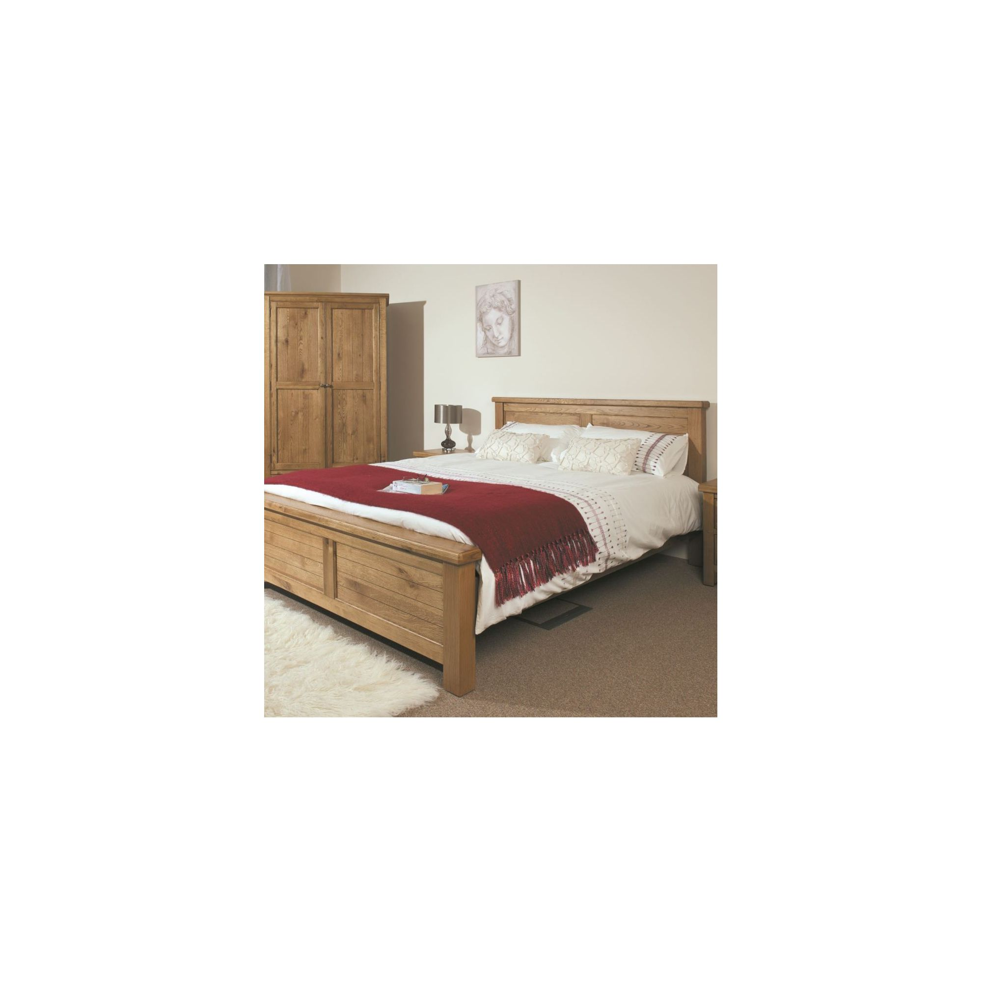 Kelburn Furniture Marino Rustic Oak Bed - Double at Tescos Direct