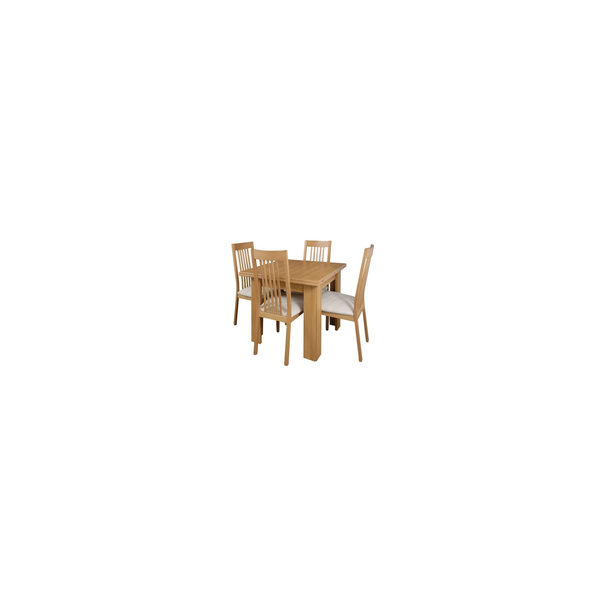 Caxton Sherwood Butterfly Extending Dining Set with 4 Slat Back Chairs at Tesco Direct
