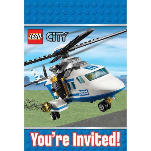 8 Lego Invitations - Amscan