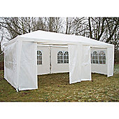 AirWave Party Tent Marquee Fully Waterproof With WindBars - 6x3m in White