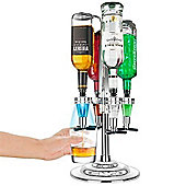 Final Touch 4 Bottle Rotary Drinks Optics Bar Cocktail Sprit Caddy