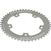 Stronglight 5-Arm/130mm Track Chainring: Silver 49T.