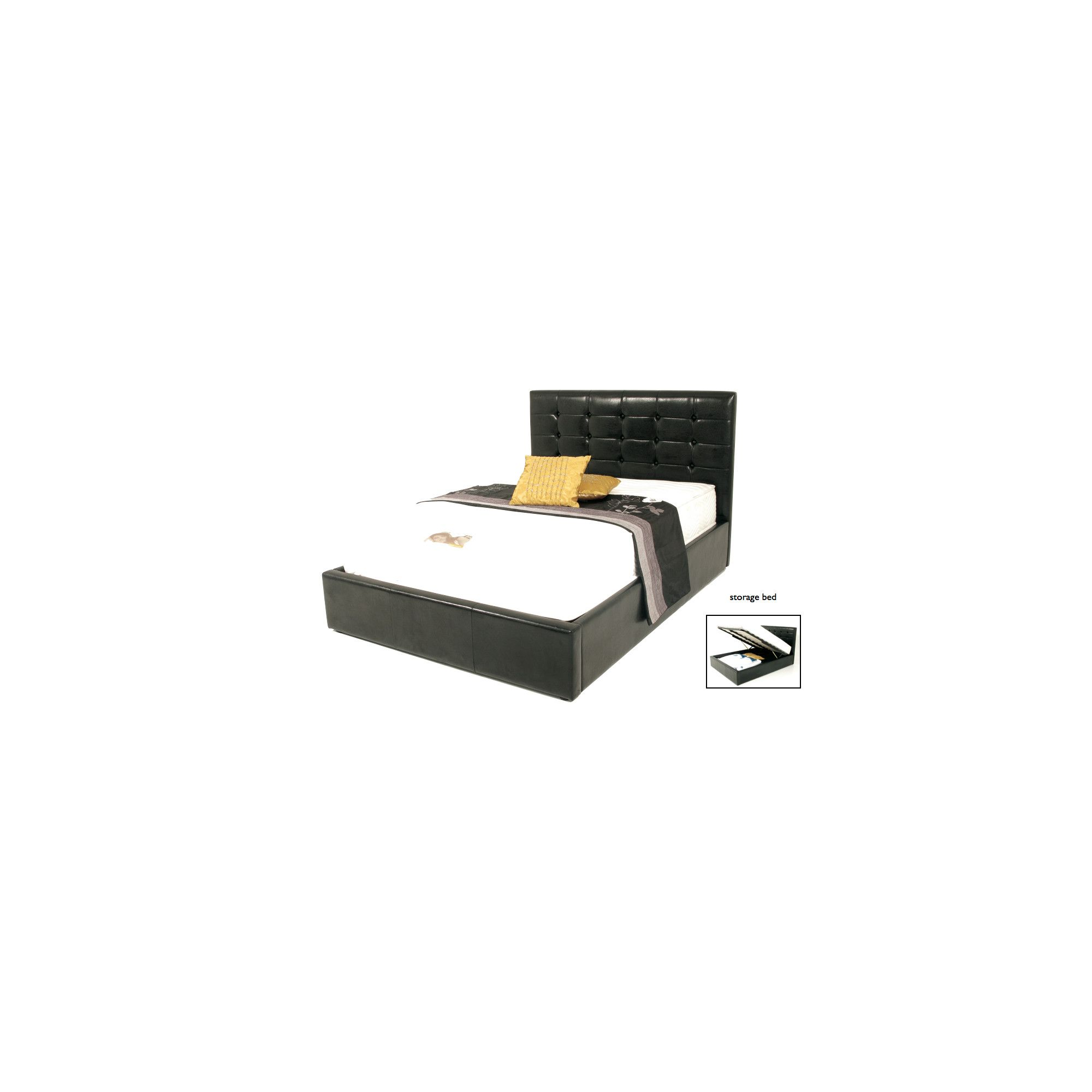 Elements Montpellier Bed - Black - Double at Tesco Direct