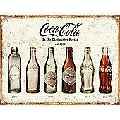 Coca-Cola Coke Bottle Evolution Tin Sign