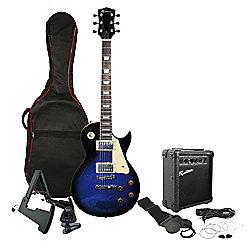Rockburn Rock Style Electric Guitar Package - Black