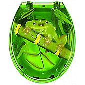 Sanwood Frog Toilet Seat in Transparent