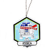 Star Wars Personalised R2D2 Christmas Tree Decoration (Single)