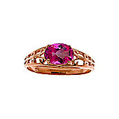 QP Jewellers 1.15ct Pink Topaz Catalan Filigree Ring in 14K Rose Gold