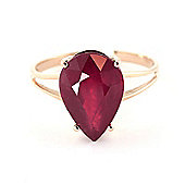 QP Jewellers 5.0ct Ruby Pear Drop Ring in 14K Rose Gold