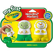 Crayola My First Crayola Character Markers (Yellow/ Green)
