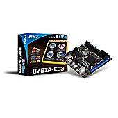 MSI B75IA-E33 LGA1155 Mini-ITX Motherboard (Socket LGA1155)