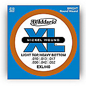 D'Addario EXL140 Electric Guitar Strings - Light/Heavy