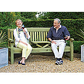 Garden Bench with Drinks Rest