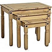 Corona Solid Pine Nest of Tables - Side Table - End Table - Stand