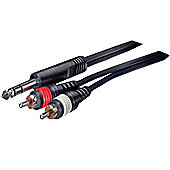 Stereo Phone Plug - 2 RCA Plugs Audio Cable - 3m