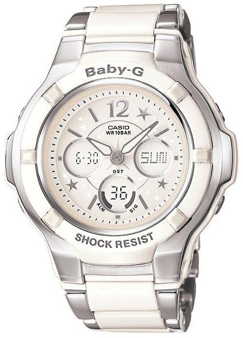 Casio Baby-G Ladies Stainless Steel Day Date Alarm Watch BGA-120C-7B1ER