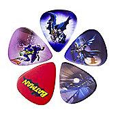 Batman Guitar 5 Piece Plectrum Set