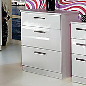 Welcome Furniture Knightsbridge 3 Drawer Chest - White - White