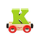 Bigjigs Rail BR111 Name Letter K (Colours Vary)