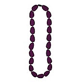 Jellystone Stepping Stone Teething Necklace in Eggplant