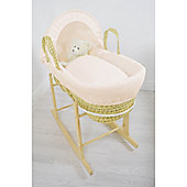 Cuddles Collection Palm Moses Basket (Waffle Cream)
