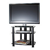ALPHASON SONA, 3 SHELF BLACK TV STAND FOR TV'S UP TO 26""