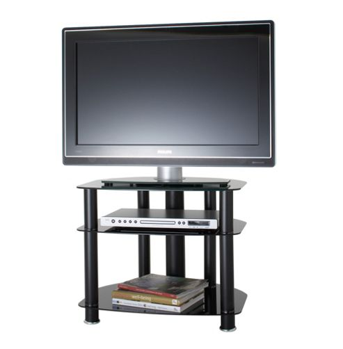Alphason Sona, 3 Shelf Black Tv Stand For Tv'S Up To 26