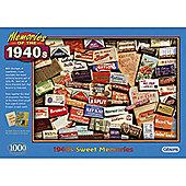1940's Sweet Memories - 1000 Piece Jigsaw