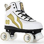 Rio Roller Varsity Quad Skates - White/Gold - Size - UK 8 - White